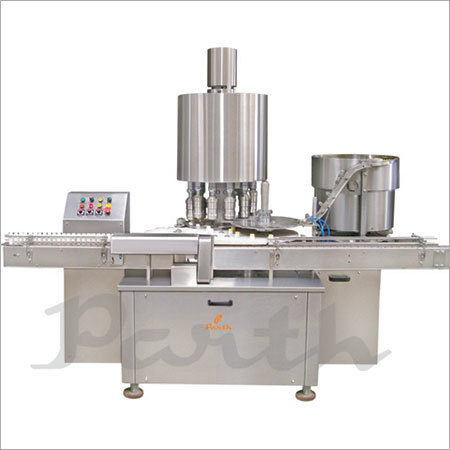 Eight Head Pick & Place Type Screw Capping Machine.