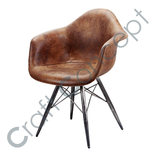 CROSS LEATHER ARM CHAIR