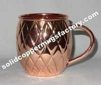 Embossed Moscow Mule Copper Mug