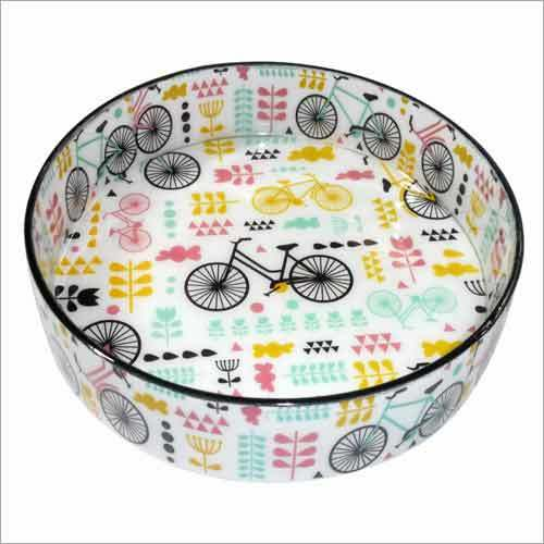 Hand Painted Lacquer Round Tray