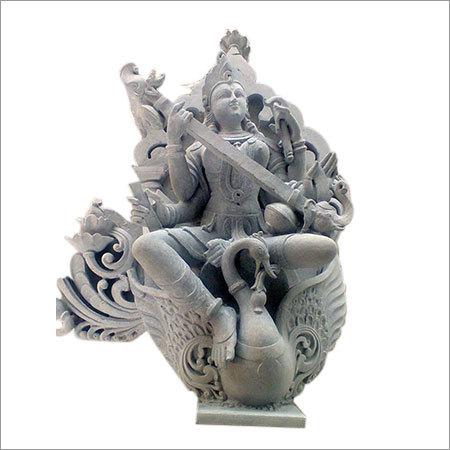 Saraswati Mata Stone Statue