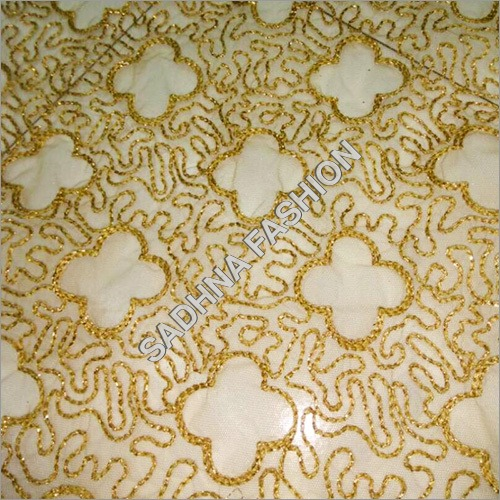 Embroidered Work Net Fabric