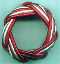 RED WHITE NAPKIN RING
