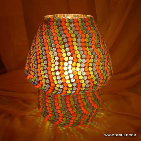 Earthen Metal Handcrafted Glass Table Lamp