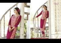 Silk with cotton print kurtis