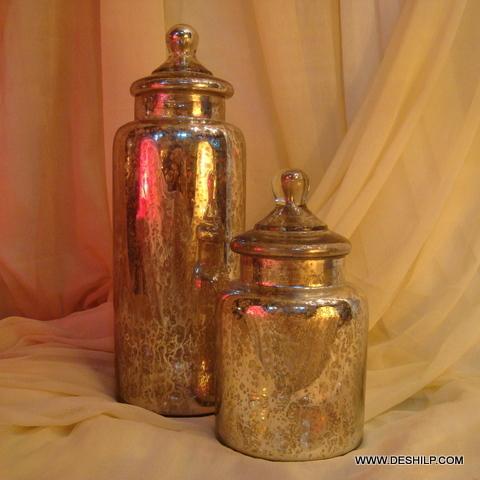 Colour Glass Jar