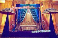 Muslim Wedding Mehandi Stage Decors With Jhula