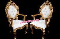 Wedding Bride And Groom Chairs