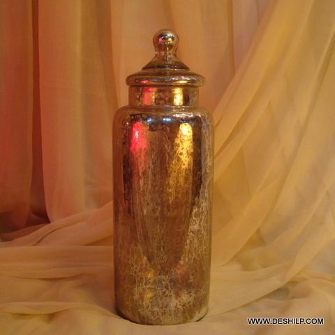 Wholesale Glass Jar with 2 Sets glass lid Storage jar