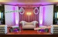Fantastic Tufted Panel Wedding Stage