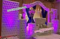 Gorgeous Wedding Leather Reception Stage