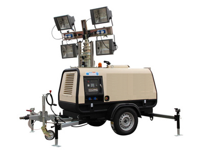 Mobile flood light tower