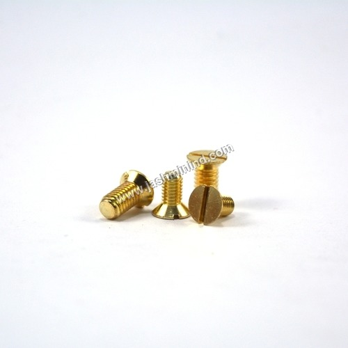 CSK Slot Head Brass Screws