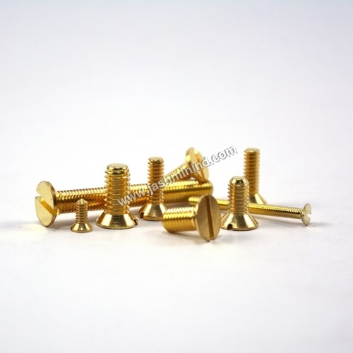 CSK Slot Brass Screws