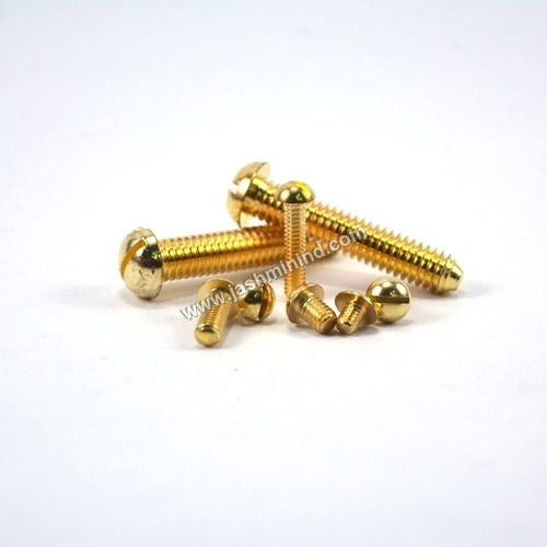 Brass Oval Head Slotted Screws
