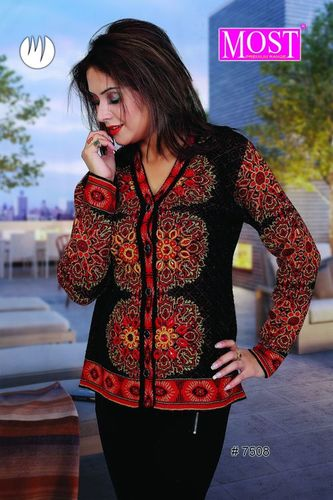 Fancy V Neck Ladies Cardigan