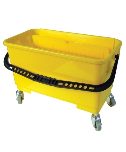 window cleaning bucket yellow
