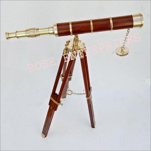 Nautical Vintage Brass Handicrafts Tripod Telescope \ Gifted Telescope
