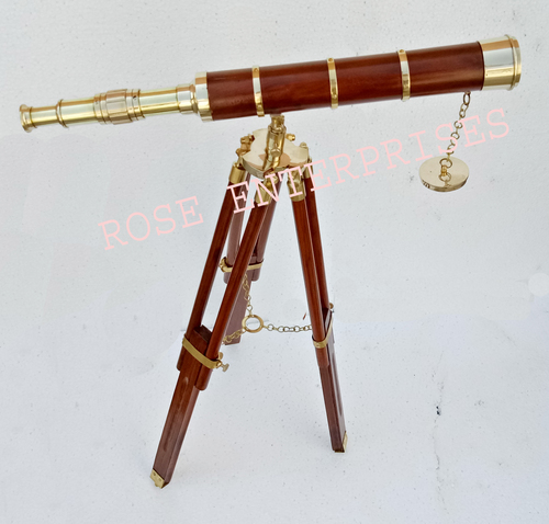 Nautical Vintage Brass Handicrafts Tripod Telescope