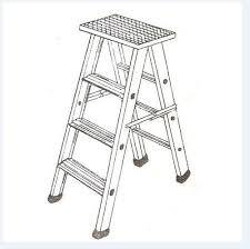 ALUMINIUM STOOL FOLDING LADDER HEAVY DUTY