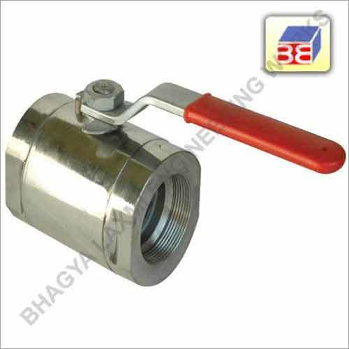 SS Single Piece Ball Valve Screwed End