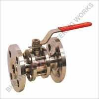S.S. Three Piece Flange End Ball Valve