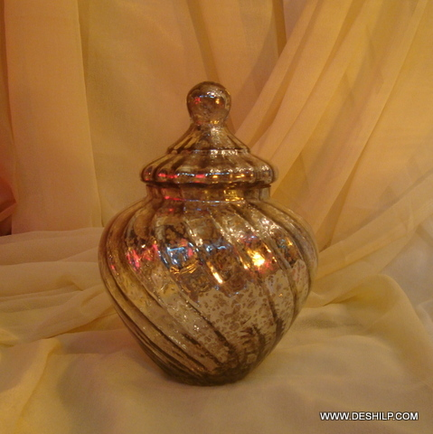 Wholesale Glass Jar with glass lid Storage jar