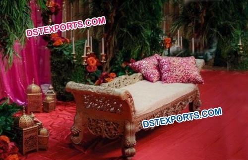 Muslim Mehandi Stage Carved Sofa