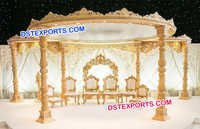 Elegant Wooden Wedding Mandap