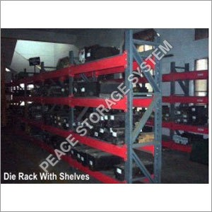 Die Rack With Shelves