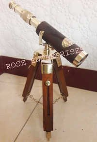 Nautical Marine Brass Vintage Single Tripod Telescope