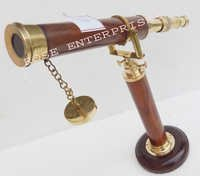 Nautical Vintage Single Barrel Desktop Telescope with Stand