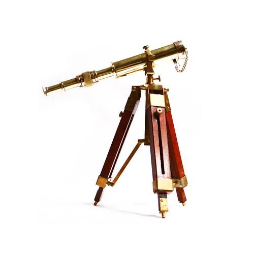 Nautical Replica Design Single Barrel Brass Tripod Telescope \ Gifted Item