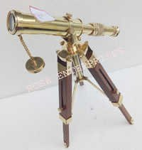 Nautical Single Barrel Brass Tripod Telescope