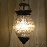 White Ice Diamond Mosaic Glass Lamp Coffee Golden Shade Mosaic Glass Lamp