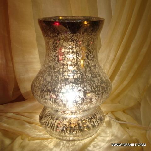 GLASS TABLE LAMP BASE