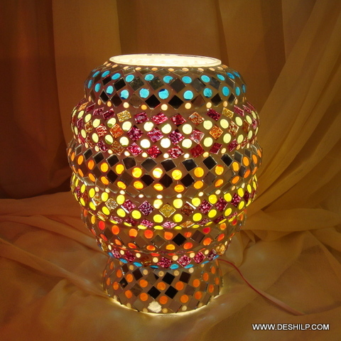 YELLOW GLASS (MOSAIC) TABLE LAMP