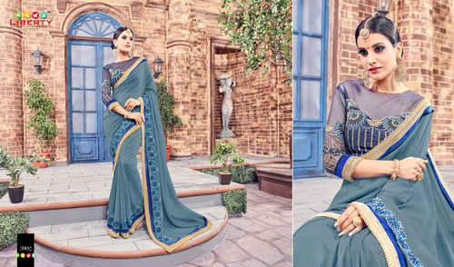 Embroidered Daily Wear Saree