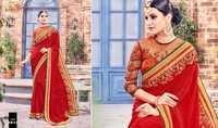Embroidered Digital Printed Saree
