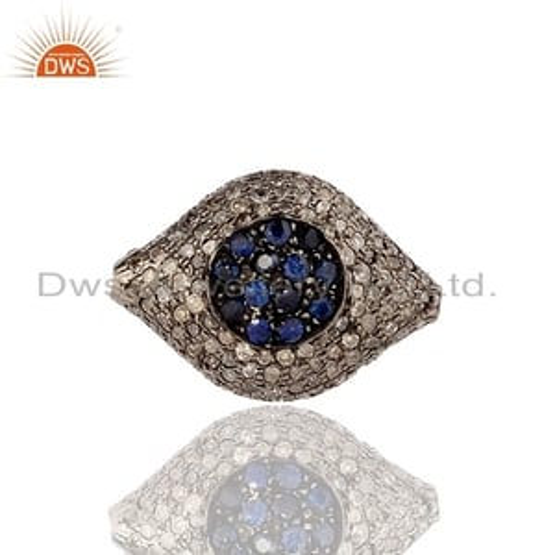 Gemstone Pave Diamond Evil Eye Finding