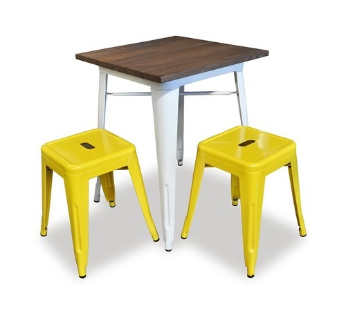 Industrial cafe table, restaurant table cafe stool