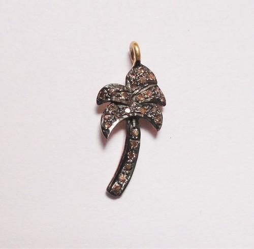 Diamond Tree Charms Pendant