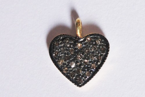 Diamond Heart Charms Pendant