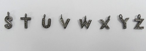 Diamond Charms Alphabet Pendant
