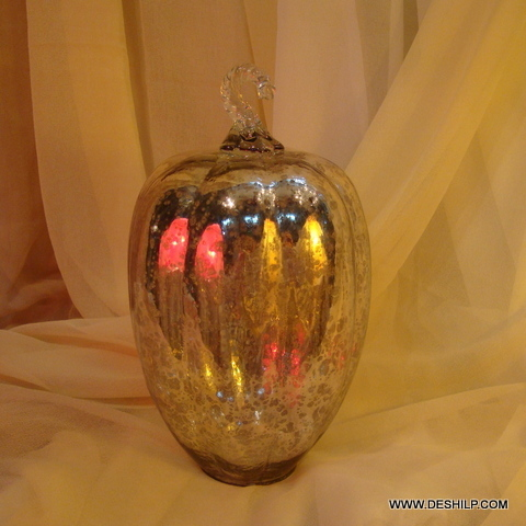 Glass Ornament Ball Dark Champagne Gold Glass Ball Table Top Finials Glass Ball Christmas Ornament