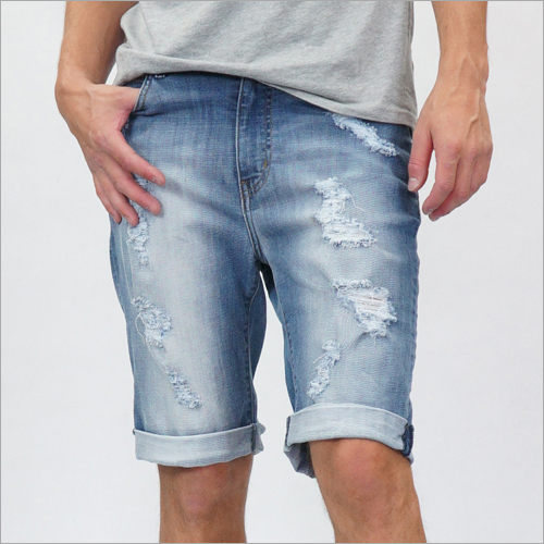 Men Short Torn Effect