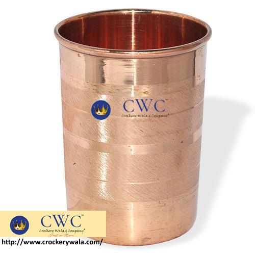 Copper Glass Tumbler, 300 Ml