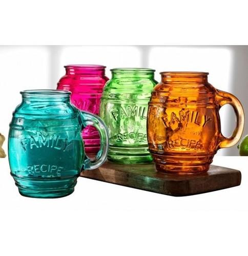 Circleware Assorted Color Barrel Mugs 768ml