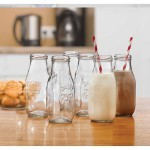 Circleware Country Set/6 clear 10.5oz milk bottle