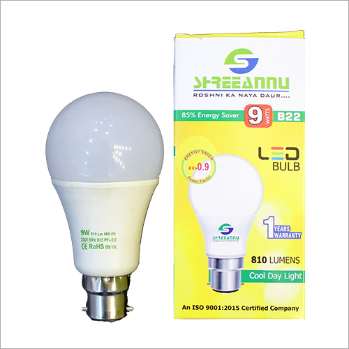 LED 9 Watt Bulb Light
